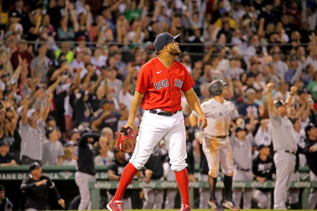 Giancarlo Stanton punishes Red Sox with crushing grand slam to lift Yankees to tie in Wild Card race