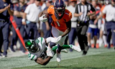 Broncos wideout KJ Hamler exits game vs Jets in second quarter with knee injury