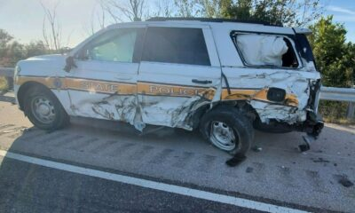 Illinois state trooper survives after being rear-ended by semi-truck on I-70 shoulder
