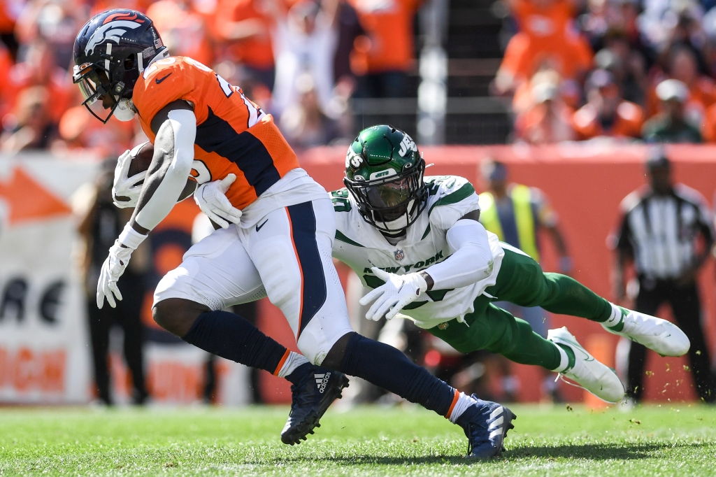 """Melvin Gordon """"not satisfied"""" with Broncos run game following blowout win over Jets"""