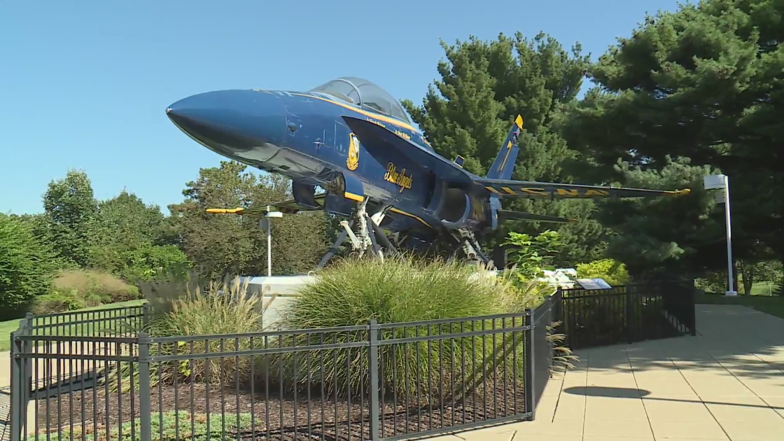 FA-18 fighter plane in Forest Park to receive overdue maintenance and cleaning