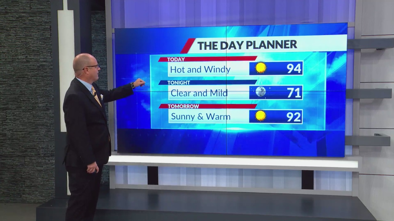 Record heat possible Monday with highs in lower-90s