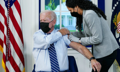 Biden gets booster, urges unvaxxed to get dosed