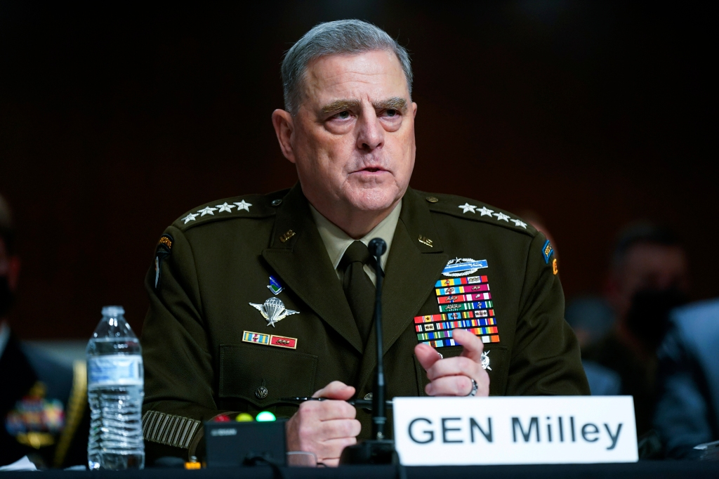 Army Gen. Mark Milley defends calls to Chinese at end of Trump presidency