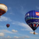 Balloons in the Great Forest Park Balloon Race most likely will head west Saturday afternoon