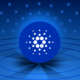 Picture of a Cardano logo with circles running around it