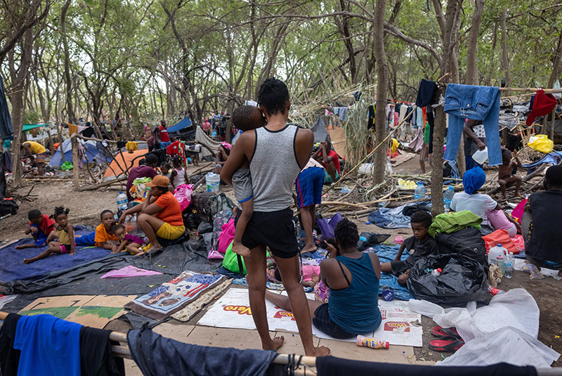 Cleanup organizer describes Third World conditions at migrant camp in Texas; Thousands of pounds of garbage hauled away