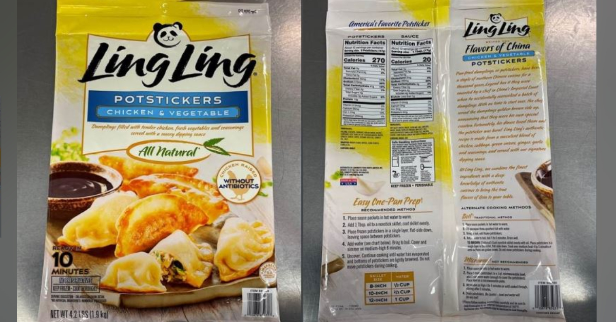 Frozen potstickers recalled after plastic found in them