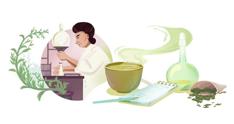 Google celebrates Michiyo Tsujimura and her breakthrough research on green tea with a Doodle