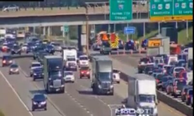 Lanes reopen after accident closes 270 northbound before 64