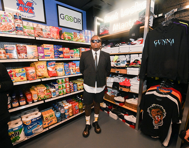 Rapper Gunna opens grocery and clothing store inside his former middle school – and everything is FREE