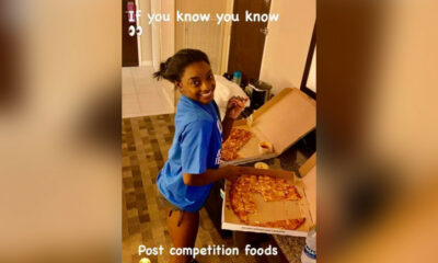 Simone Biles defends her love for Imo's Pizza on Jimmy Kimmel Live