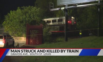 Man struck, killed by train in south St. Louis Wednesday night