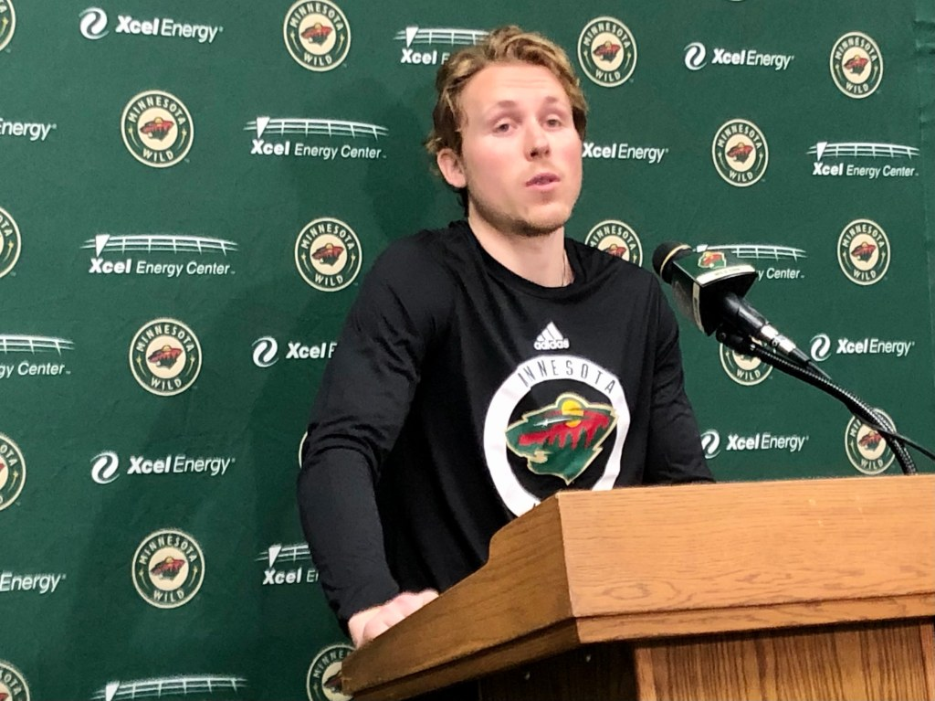 Rem Pitlick's homecoming with the Wild is all business