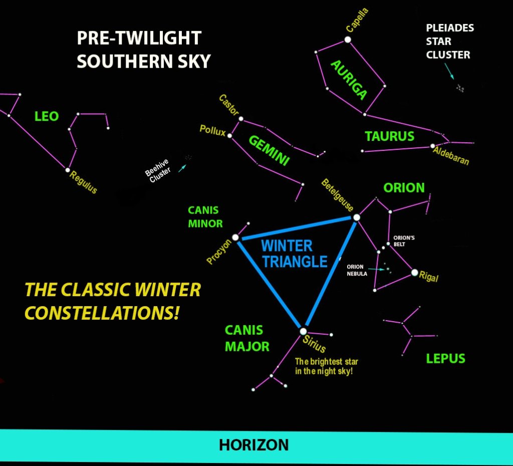 Mike Lynch's Skywatch: Wake up early to see the great winter constellations