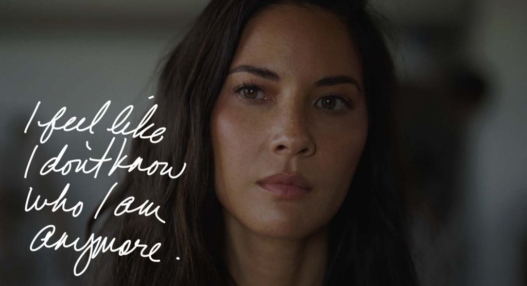 Olivia Munn deals with that nasty voice in her head in 'Violet'